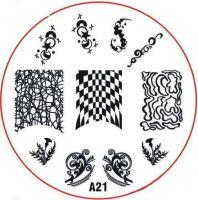 Stamping Nail Art platnička - A21