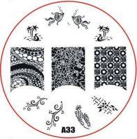 Stamping Nail Art platnička - A33
