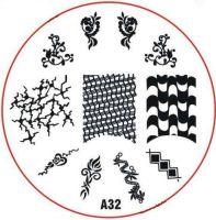 Stamping Nail Art platnička - A32