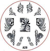 Stamping Nail Art platnička - A29