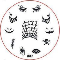 Stamping Nail Art platnička - A37 (halloween)