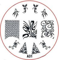 Stamping Nail Art platnička - A31