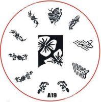 Stamping Nail Art platnička - A19