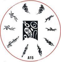 Stamping Nail Art platnička - A15