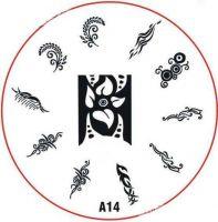 Stamping Nail Art platnička - A14