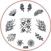 Stamping Nail Art platnička - A30