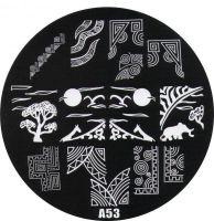 Stamping Nail Art platnička - A53