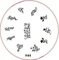 Stamping Nail Art platnička - H44