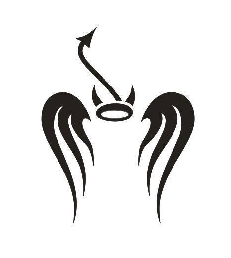 Tattoo šablónka č. 04 - Angel