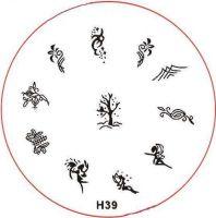 Stamping Nail Art platnička - H39