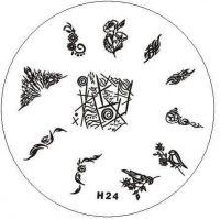Stamping Nail Art platnička - H24
