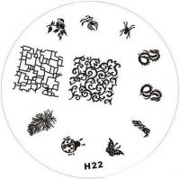 Stamping Nail Art platnička - H22
