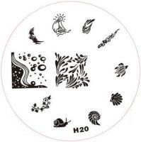 Stamping Nail Art platnička - H20