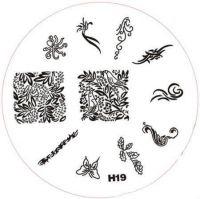 Stamping Nail Art platnička - H19