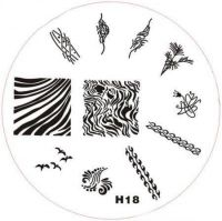 Stamping Nail Art platnička - H18