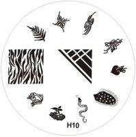 Stamping Nail Art platnička - H10