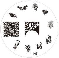 Stamping Nail Art platnička - H9