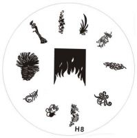 Stamping Nail Art platnička - H8