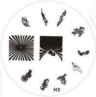 Stamping Nail Art platnička - H5