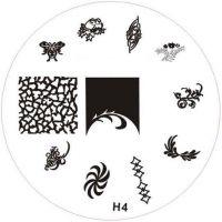 Stamping Nail Art platnička - H4