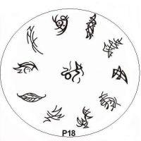 Stamping Nail Art platnička - P18