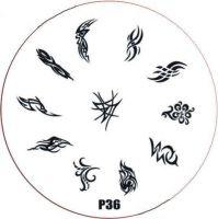 Stamping Nail Art platnička - P36