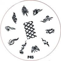 Stamping Nail Art platnička - P45