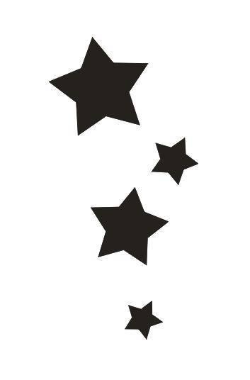 Tattoo šablónka č. 68 - Stars