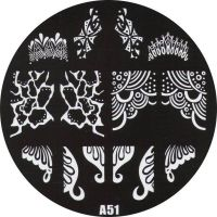 Stamping Nail Art platnička - A51