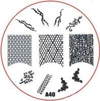 Stamping Nail Art platnička - A40