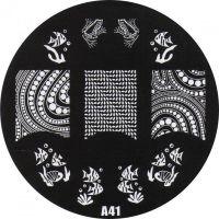 Stamping Nail Art platnička - A41
