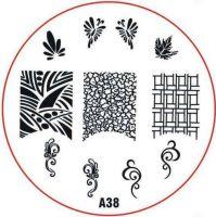 Stamping Nail Art platnička - A38