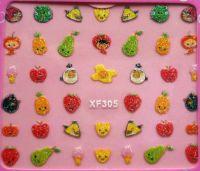 Nálepky trblietavé - XF305 - ovocie