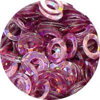 Konfety flitre obrúčky - 32. Metal Hologram Pink