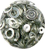 Konfety flitre obrúčky - 33. Metal Silver