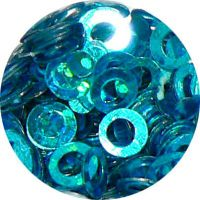 Konfety flitre obrúčky - 27. Metal Hologram Turquoise