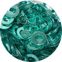 Konfety flitre obrúčky - 28. Metal Light Blue