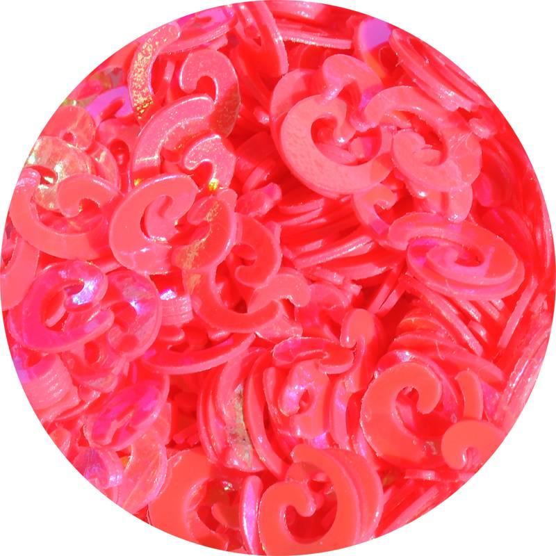 Konfety na zdobenie nechtov v tvare špirálky