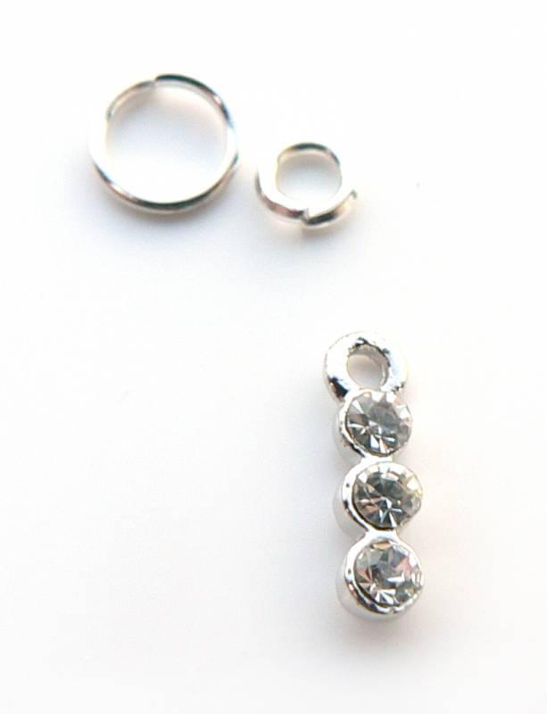Pearcing do nechtu - 3 mini kryštáliky