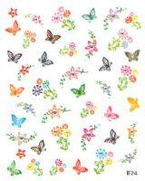 Nálepky - Kvietky a motýliky