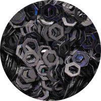 Konfety hexagony duté  - 8. čierne