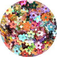 Konfety kvetinky s dierkou MIX