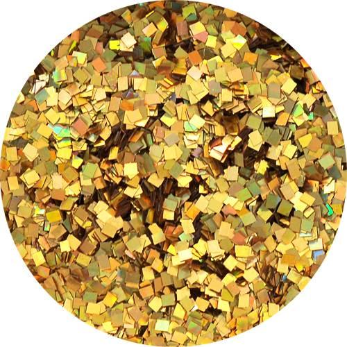 Konfety štvorčeky mini - 14 metal hologram zlaté