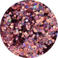 Konfety štvorčeky mini - 15 metal hologram staroružové