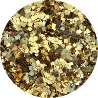 Konfety štvorčeky mini - 25 metal zlaté