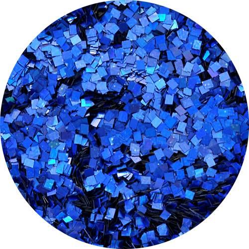 Konfety štvorčeky mini - 21 metal hologram modré