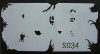 Šablónka nelepiaca - SD34