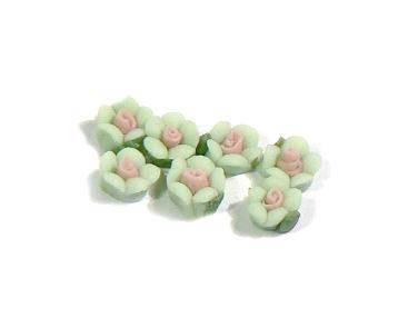3D keramické ružičky na nechty