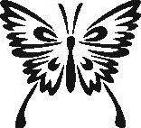 Tattoo šablónka č. 46 - Motýlik