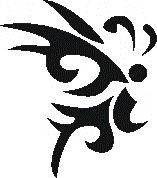 Tattoo šablónka č. 40 - Motýľ